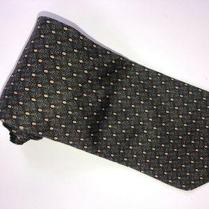 Nautica Gray w/Gold Dots Men's 100% Silk Tie T182
